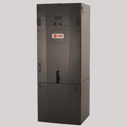 Trane TAMG Hyperion air handler split geothermal system.