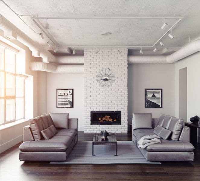 Modern living room interiorModern living room interior. Why is IAQ important?